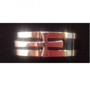 Ring 3 delig met kruis