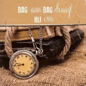 Dag aan dag draagt Hij ons