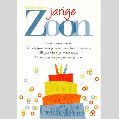 Gefeliciteerd Verjaardag Zoon.Verjaardagskaart Zoon Wenskaart 2019