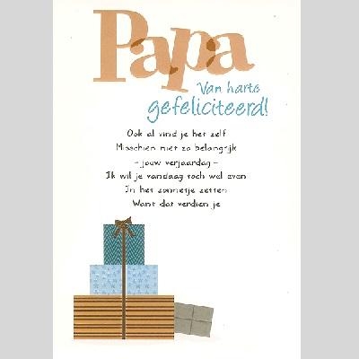 Kaart Papa Van Harte Gefeliciteerd Goodbookshopgoodbookshop