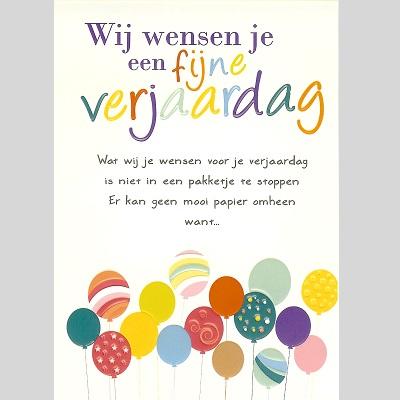 Kaart Wij Wensen Je Een Fijne Verjaardag Goodbookshopgoodbookshop