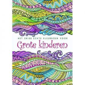Enige echte kleurboek v grote kinderen